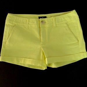 American Eagle neon shorts
